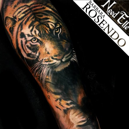 tigre, tiger, tattoo, realistic, barbara rosendo, lille, paris