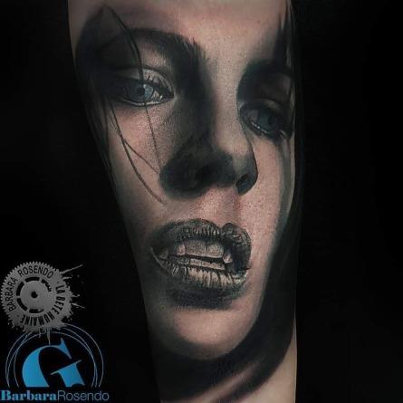 underworld, selene, kate beckinsale, portrait, barbara rosendo, tatouage, realiste, realistic, tattoo, 3d, lille, paris, la bête humaine, need elle