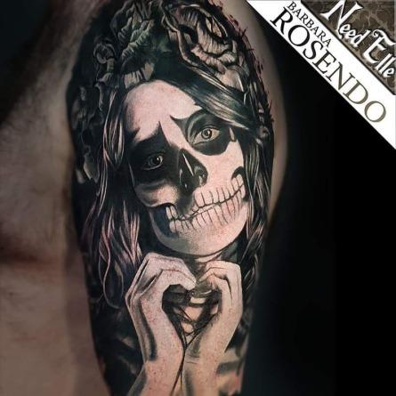 portrait, barbara rosendo, tatouage, realiste, realistic, tattoo, 3d, lille, paris, la bête humaine, need elle