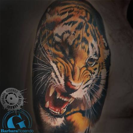 tigre tattoo tiger, color, barbara rosendo, tatouage, realiste, realistic, tattoo, 3d, lille, paris, la bête humaine, need elle