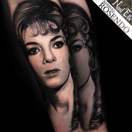 angelique marquise des anges, michele mercier, barbara rosendo, tatouage, realiste, realistic, tattoo, 3d, lille, paris, la bête humaine, need elle, portrait