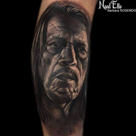 dany trejo tattoo realistic portrait rosendo? barbara rosendo, tatouage, realiste, realistic, tattoo, 3d, lille, paris, la bête humaine, need elle, machete