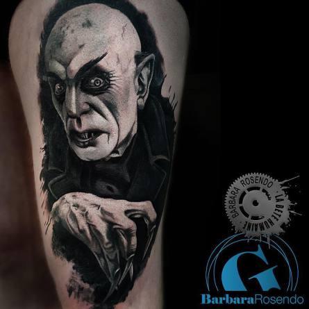 vampire,portrait,nosferatu, barbara rosendo, tatouage, realiste, realistic, tattoo, 3d, lille, paris, la bête humaine, need elle