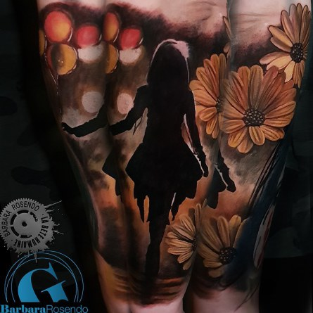 flowers, color, barbara rosendo, tatouage, realiste, realistic, tattoo, 3d, lille, paris, la bête humaine, need elle